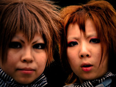 Faces of Japan V (manganite) Tags: girls portrait people color cute beautiful beauty face fashion japan digital geotagged asian japanese tokyo costume clothing cool nikon asia pretty cosplay tl young makeup teens posing style streetscene harajuku fancy teenager  nippon  d200 nikkor dslr effect nihon kanto orton stylish japanesegirl treatment  18200mmf3556 utatafeature manganite nikonstunninggallery geo:lon=139702382 date:year=2006 geo:lat=35669796 date:month=september date:day=17 format:ratio=43