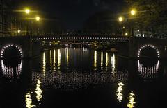 bridge (raasta) Tags: city bridge urban holland netherlands amsterdam night canon puente canal ciudad nocturna amsterdambynight canonpowershotg7