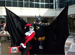 HQ + B-man = <3? (mew_pudding) Tags: new york girls man dark comic jester clown bat harley batman quinn joker knight gotham manhatten fangirl con harleen nycc quinzel