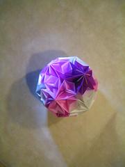 Sakura Temari Lichtspiel (Yureiko) Tags: paper origami sakura papier paperfolding kusudama temari papierfalten puupuu