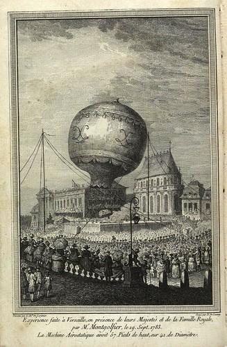 Experiencia en Versalles de Montgolfier 19-09-1783