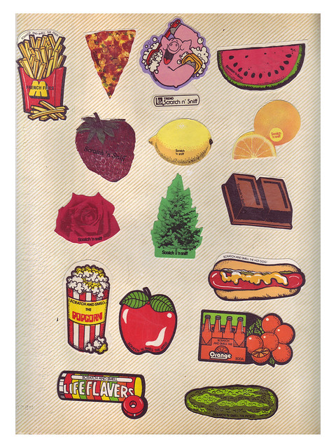 80's Vintage Scratch n' Sniff Stickers - green14