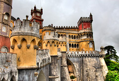 Palacio da Pena, Sintra, Portugal (szeke) Tags: castle portugal architecture buildings place sintra palace hdr polaris palaciodapena castelodapena littlestories mywinners picswithsoul