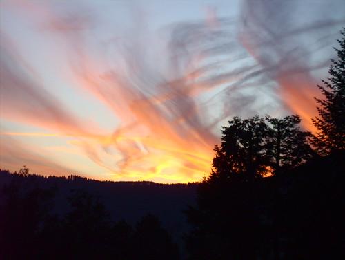 Abendhimmel über Zierenberg