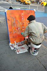 ON-THE SPOT PAINTING IN TIMES SQUARE  2011    ...