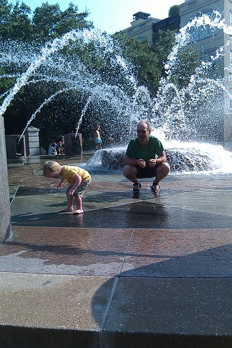 More playing in the fountain