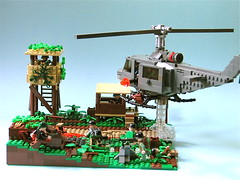 Go Get 'em Boys! First place winner!!!! ([DustyBricks]) Tags: lego huey americans nam guerilla mls vietnamwar