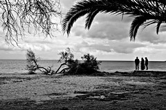 (Eleanna Kounoupa (Melissa)) Tags: people blackandwhite beach clouds greece    neamakri