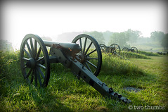 Artillery at Dawn (Two Thumbs) Tags: morning usa mist fog delete10 delete9 delete5 delete2 nikon war pennsylvania delete6 delete7 save3 delete8 delete3 delete delete4 save save2 pa gettysburg civil cannon artillery d90