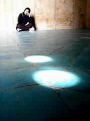 (Alieh) Tags: blue light me myself thought iran tiles thinking iranian  esfahan  isfahan      aliehs alieh    charbaghschool 4baghschool
