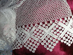 crochet curtain WIP