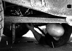 Armen  la soudure... (vatch2006) Tags: bw white black welding armenia toyota armenie gyumri soudure lj70 leninakan gumri voyagearmenie