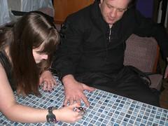 Ruth doing Steve's nails (goth.metalmalicia) Tags: gothic whitby goths wgw whitbygothweekend whitbygothweekendoct07 gothswgw wgwoct07 gothicculture