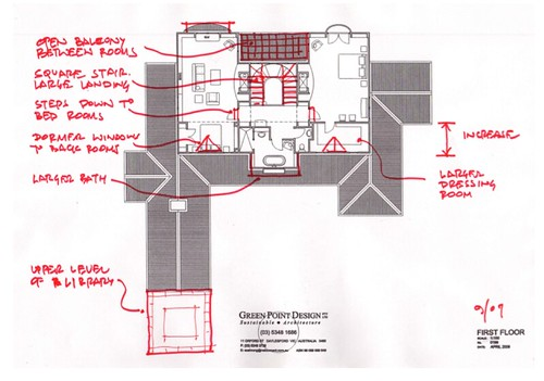 house plan alterations (top floor)