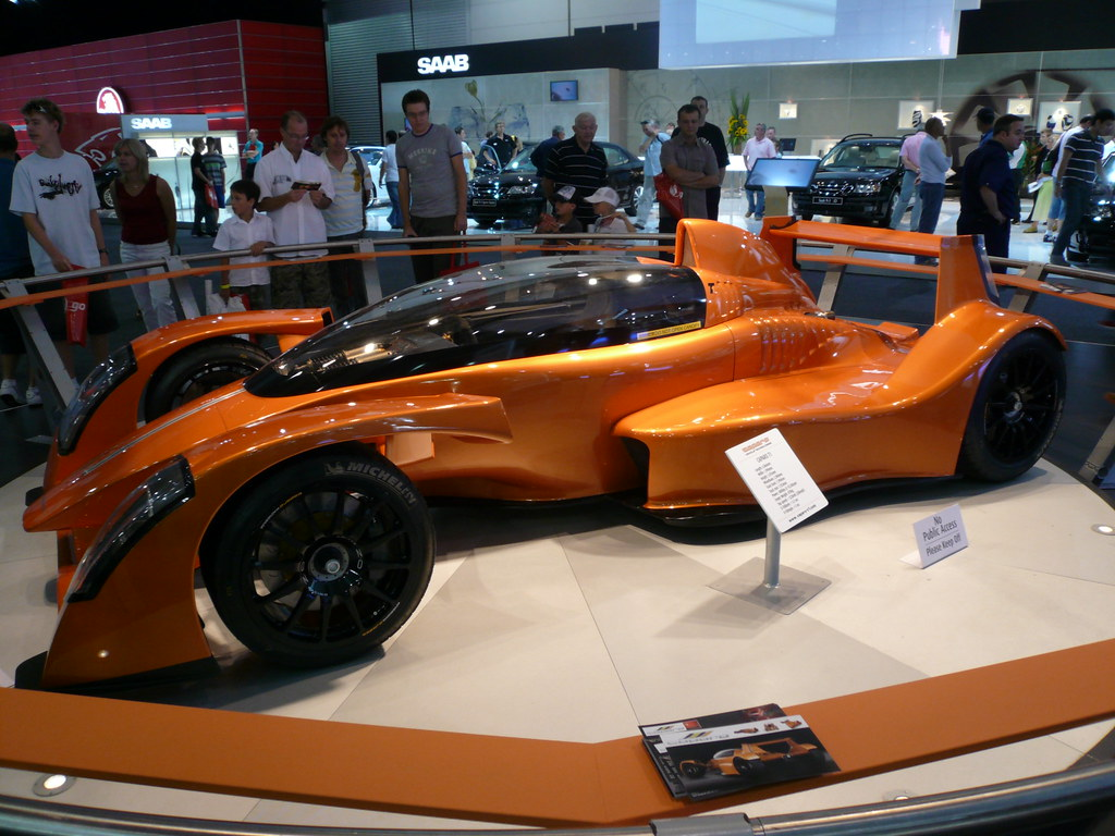 Caparo T1 is a street legal formula one style car at the Melbourne International Motor Show 2007.