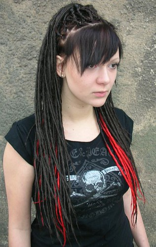 Short Hair Dreads. Long straight hair dreads with