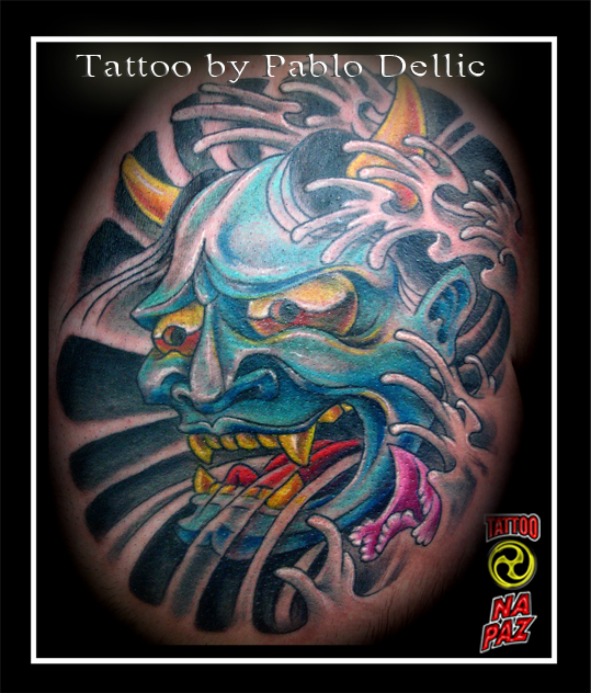 hanya tattoo. Hanya Oriental Mask Tattoo