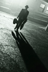fedora (richietown) Tags: shadow blackandwhite bw musician mist topf25 silhouette topv111 boston misty fog canon topv555 topv333 bokeh guitar massachusetts stock foggy guitars getty backlit 30d 50mm18 bostonist patrickdunn richietown wwwpatrickdunnmusiccom longshado addtoimagekind