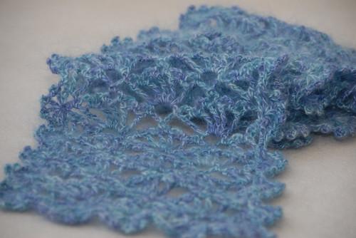 Crochet Lacy Scarf FO 4