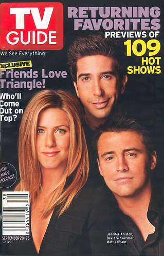 Tv Guia David Schwimmer, Jennifer Aniston, y Matt LeBlanc