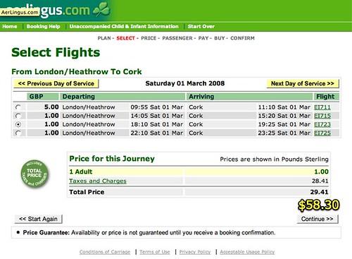 Aer Lingus: LHR-ORK