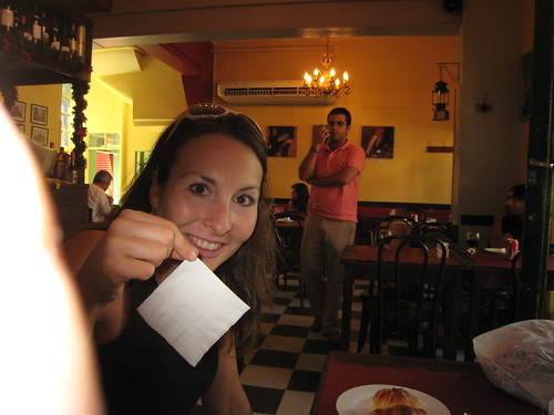 Carly with Napkin