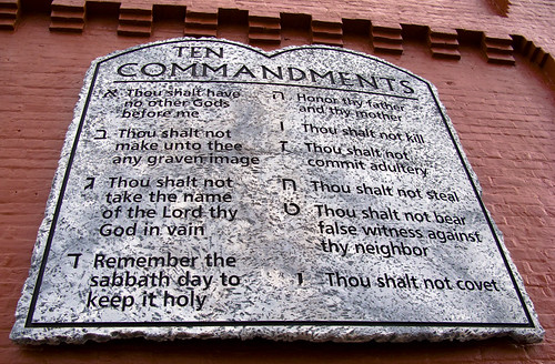 Ten Commandments with Hebrew Numbering (read the description for an explanation of why)