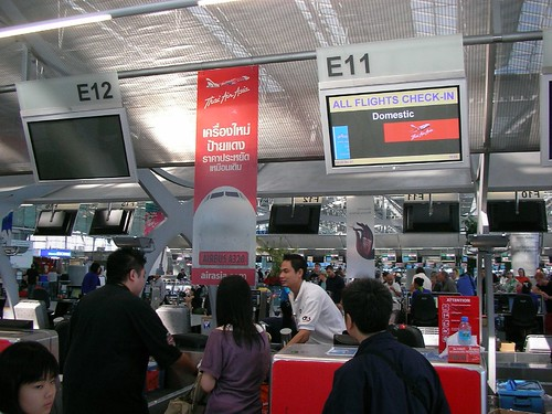 Air Asia Check In @ Suvarnabhumi International Airport