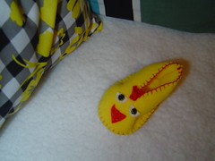 Pantufa de bebé pinto