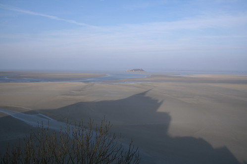 The shadow of Mont-Saint-Michel