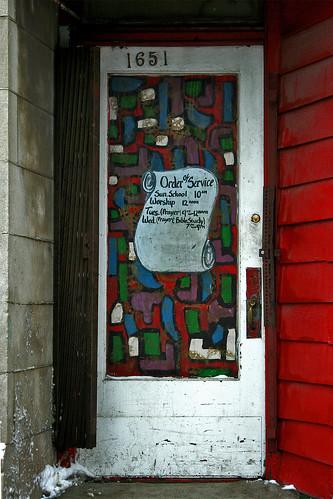 Stained-Glass Door