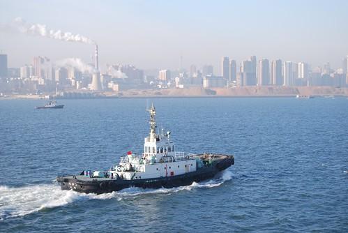 Dalian Port por Bouvguy2.