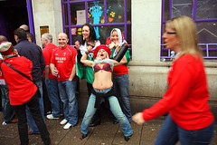 We'll win (Pawel Boguslawski) Tags: life street uk girls people wales canon rugby bra cardiff stomach final brains fans 6nations 40d fds24h