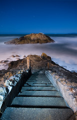 Step into the marshmallow abyss... (After Dark Photo) Tags: sanfrancisco longexposure blue beach northerncalifornia pacific fullmoon sutrobaths norcal westcoast sutroruins