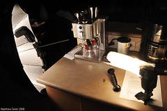 ND3_1219 - Espresso Setup (Matt Greer) Tags: umbrella nikon sb600 espresso setup snoot sb26 breville nikkor18200vr strobist mattgreer cactusv2s nikond300 sbnikon