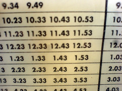 Bus timetable 1.43