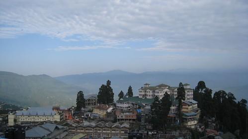 Morning view from Darjeeling hotel