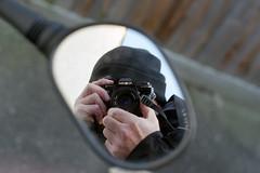 My Kind of Selfie (Howie Mudge LRPS BPE1*) Tags: me myself i selfie mirror reflection minolta x700 minoltax700 slr 35mm 35mmfilm film photography analog analogue analogphotography negative scan agfavista200 color colour motorbike hat hiddenface bokeh bokehful bokehlicious minoltarokkor50mmf17 prime lens
