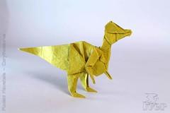 Fumiaki Kawahata - Corythosaurus (IverRu) Tags: iver kawahata dinosaur corythosaurus origami кавахата динозавр коринфозавр оригами