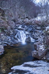 Mystical Waterfall (Renegade Scot) Tags: waterfall winter water landscape snow river ice beautiful blue cascade natural cold white frozen rock outdoors flow motion mountain sceniclandscape naturelandscape trees longexposure photography photograph