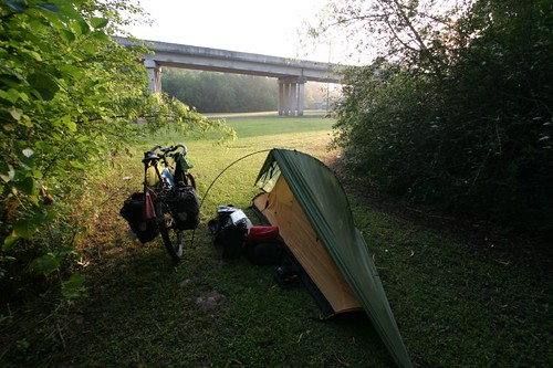 Wild camp in Mermentau, LA.