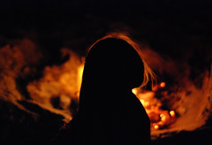 (FRAZCAM) Tags: camp girl silhouette night dark fire photography scotland nikon photographer bonfire tiree hebrides d300s