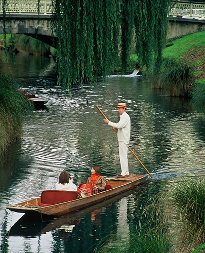 Christchurch-Punting down Avon River