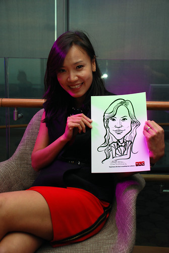 Caricature live sketching for TLC - 6