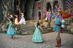 A bonus princess for the coronation! (Angelasews) Tags: ariel princess disneyland royal disney aurora cinderella mermaid snowwhite sleepingbeauty littlemermaid coronation princessfantasyfaire sirelias ladylillian
