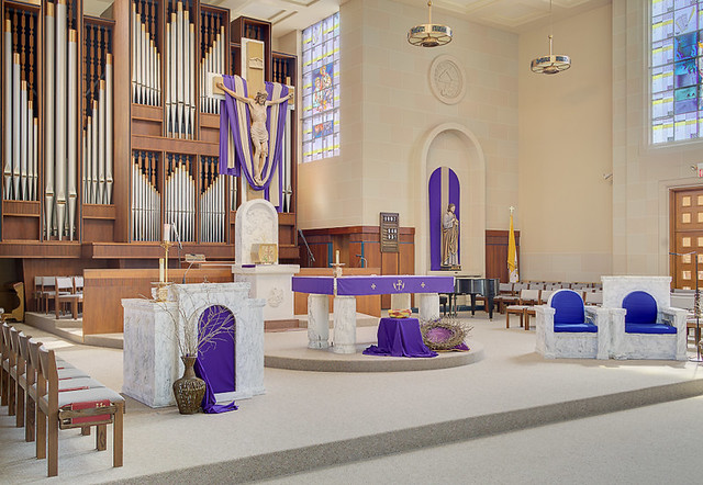 Saint Paul Roman Catholic Church, in Highland, Illinois, USA - sanctuary
