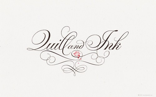 TYPESENSES »Parfumerie Script Pro« ❤ Quill and Ink (for widescreen displays) / arnoKath