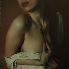 It was on account of the flowers which did not blossom II (RapidHeartMovement) Tags: portrait love self dark square poetry body expressive conceptual sensuality poświatowska alwaysexcellent poeticalinspirations