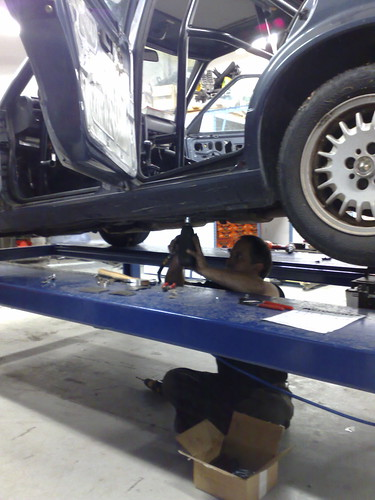 Drilling the roll cage mounts