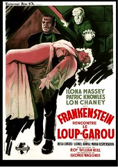 frankenstein meets the wolfman france 1956